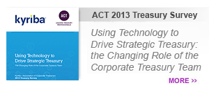 ACT 2013 Treasury Survey